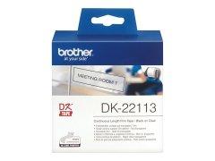 Originální etikety Brother DK-22113, průsvitná filmová role, 62mm x 15,24m