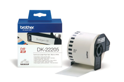 Originální etikety Brother DK-22205, papírová role 62mm x 30,48m