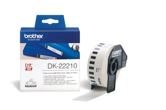Originální etikety Brother DK-22210, papírová role 29mm x 30,48m