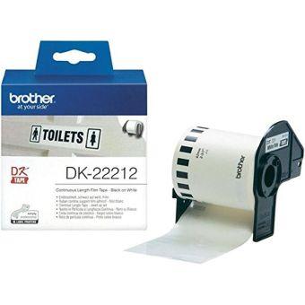 Originální etikety Brother DK-22212, filmová role, 62mm x 15,24m
