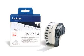 Originální etikety Brother DK-22214, papírová role 12mm x 30,48m