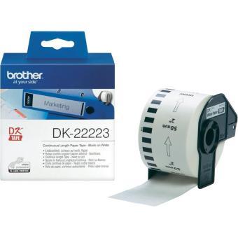 Originální etikety Brother DK-22223, papírová role 50mm x 30,48m