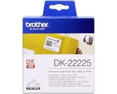 Originální etikety Brother DK-22225, papírová role 38mm x 30,48m