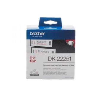 Originální etikety Brother DK-22251, papírová role 62mm x 15,24m