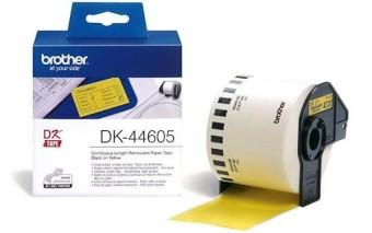 Originální etikety Brother DK-44605, žlutá papírová role s odstranitelným lepidlem, 62mm x 30,48m