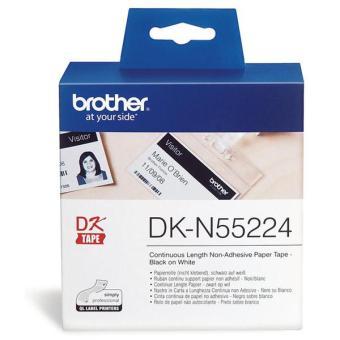 Originální etikety Brother DK-N55224, papírová role, nelepící,  54mm x 30,48m