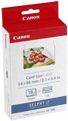 Etikety pro termosublimační tiskárny Canon 54x86mm, 18ks, nálepky (KC18IF)