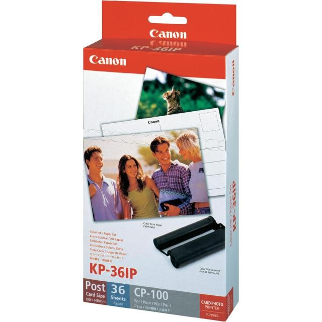 Fotopapír pro termosublimační tiskárny Canon 10x15cm, 36ks (KP36IP)