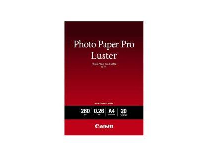 Fotopapír A4 Canon Pro Luster, 20 listů, 260 g/m2, lesklý, bílý, inkoustový