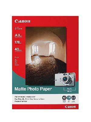 Fotopapír A3 Canon Matte, 40 listů, 170 g/m2,matný, bílý, inkoustový (MP-101)