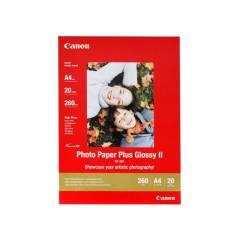 Fotopapír A4 Canon Plus Glossy, 20 listů, 260 g/m2, lesklý, bílý, inkoustový (PP-201)