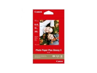 Fotopapír 10x15cm Canon Plus Glossy, 50 listů, 260 g/m2, lesklý, bílý, inkoustový (PP-201)
