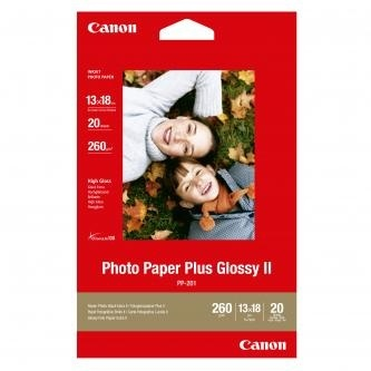 Fotopapír 13x18cm Canon Plus Glossy, 20 listů, 275 g/m2, lesklý, bílý, inkoustový (PP-201)