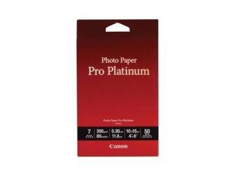 Fotopapír 10x15cm Canon Pro Platinum, 50 listů, 300 g/m2, lesklý, bílý, inkoustový (PT-101)