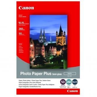 Fotopapír 10x15cm Canon Semi-Glossy, 50 ks, 270 g/m2, pololesklý, saténový, bílý, inkoustový (SG-201S)