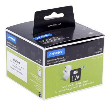 Originální etikety DYMO 11356, 89mm x 41mm, černý tisk na bílém podkladu, 300ks