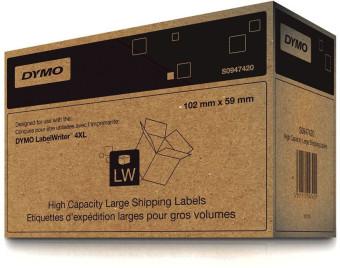 Originální etikety DYMO S0947420, přepravní papírové štítky, 102mm x 59mm, černý tisk na bílém podkladu, 2x575ks