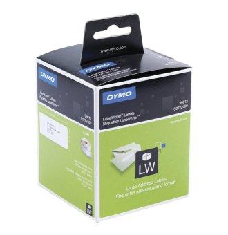 Originální etikety DYMO 99012 (S0722400), 89mm x 36mm, černý tisk na bílém podkladu, 2x 260ks
