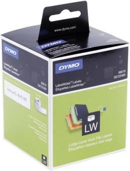 Originální etikety DYMO 99019 (S0722480), 190mm x 59mm, černý tisk na bílém podkladu, 110ks