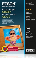 Fotopapír 10x15cm Epson Glossy, 100 listů, 200 g/m2, lesklý, bílý, inkoustový (C13S042548)
