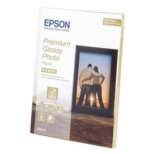 Fotopapír 13x18cm Epson Premium Glossy, 30 listů, 255 g/m2, lesklý, bílý (C13S042154)