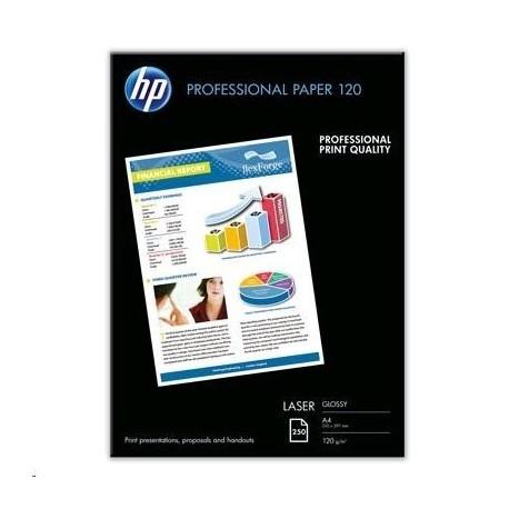Fotopapír A4 HP Professional Glossy, 250 listů, 120 g/m2, lesklý, bílý, laserový (CG964A)