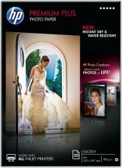 Fotopapír A4 HP Premium Plus Glossy, 20 listů, 300 g/m2, lesklý, bílý, inkoustový (CR672A)