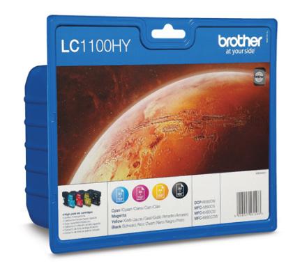 Sada originálních cartridge Brother LC-1100HYVALBP