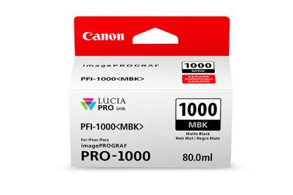 Originální cartridge Canon PFI-1000MBK (Matně černá)
