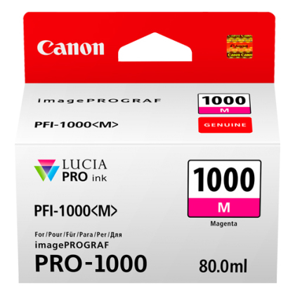 Originální cartridge Canon PFI-1000M (Purpurová)