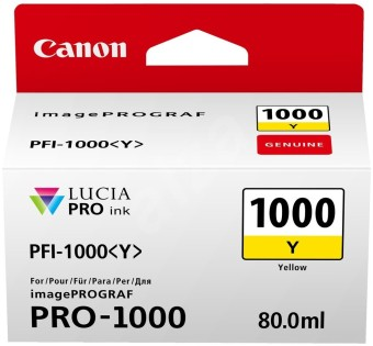 Originální cartridge Canon PFI-1000Y (Žlutá)