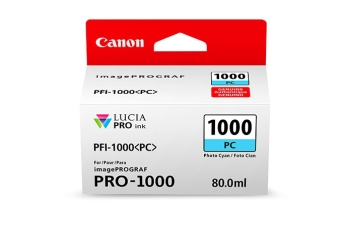 Originální cartridge Canon PFI-1000PC (Foto azurová)