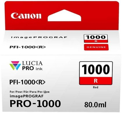 Originální cartridge Canon PFI-1000R (Červená)