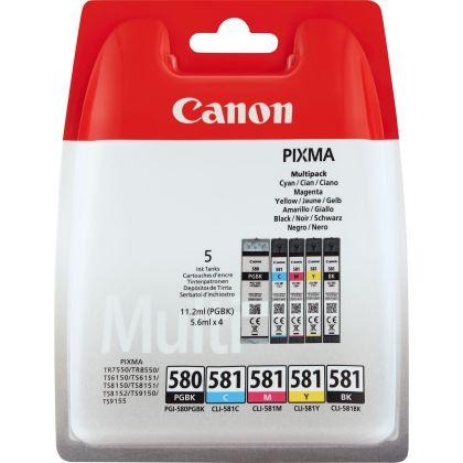 Sada originálních cartridge Canon PGI-580PGBK a CLI-581C/M/Y/BK