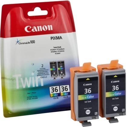 Sada originálních cartridge CANON CLI-36C (Barevná)