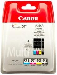 Sada originálních cartridge Canon CLI-551 (Černá a barevná)