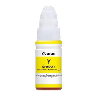 Originální lahev s inkoustem Canon GI-490 Y (Žlutá)