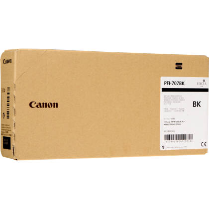 Originální cartridge Canon PFI-707BK (Černá)