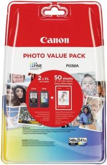 Sada originálních cartridge Canon PG-540XL+CL-541XL (Černá a barevná) + fotopapír
