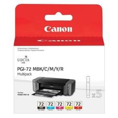 Sada originálních cartridge Canon PGI-72 MBk/C/M/Y/R