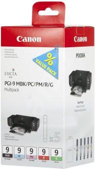 Sada originálních cartridge Canon PGI-9MBK/PC/PM/R/G