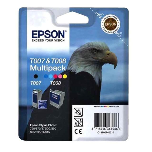 Sada originálních cartridge EPSON T007 a T008