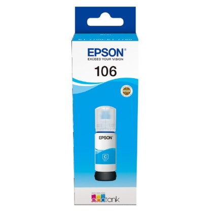 Originální lahev Epson 106 C (C13T00R240) (Azurová)