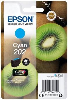 Originální cartridge EPSON č. 202 (T02F2) (Azurová)