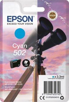 Originální cartridge Epson 502 C (T02V2) (Azurová)