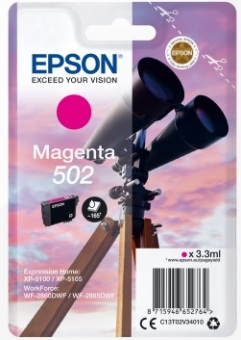 Originální cartridge Epson 502 M (T02V3) (Purpurová)