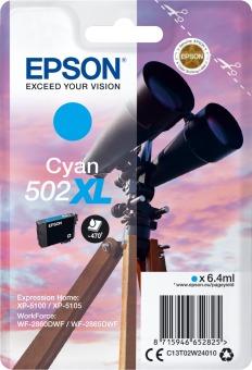 Originální cartridge Epson 502 XL C (T02W2) (Azurová)