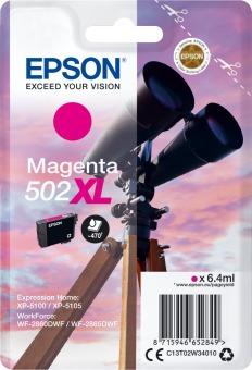 Originální cartridge Epson 502 XL M (T02W3) (Purpurová)