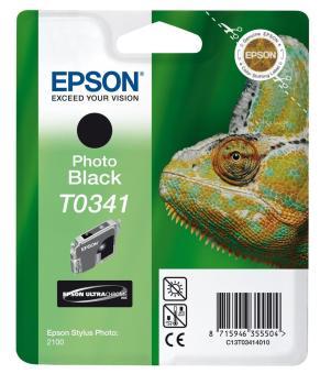 Originální cartridge EPSON T0341 (Foto černá)