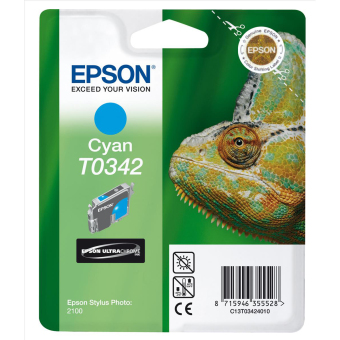 Originální cartridge EPSON T0342 (Azurová)